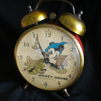 Bradley Mickey and Pluto Daul Bell Alarm - Clocks
