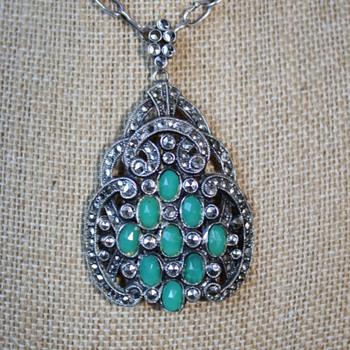 Marcasite Pendant - Costume Jewelry