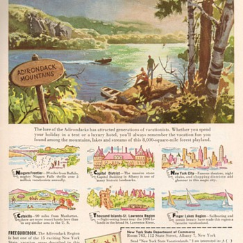 1953 - New York State Travel Advertisement - Advertising