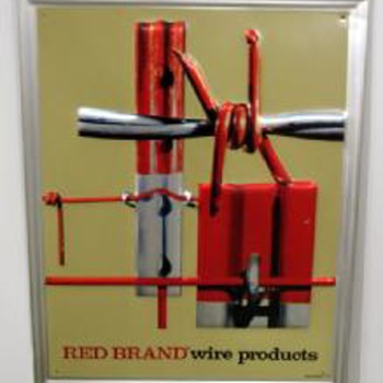Red Brand Wire Products Sign - Tools and Hardware