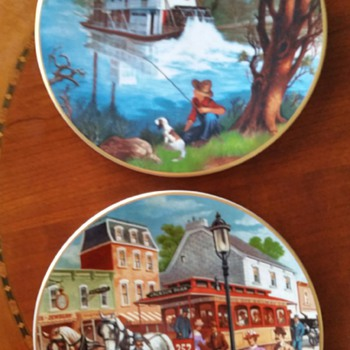 WHEELS OF YESTERYEAR by Lloyd Rognan c1990 - China and Dinnerware
