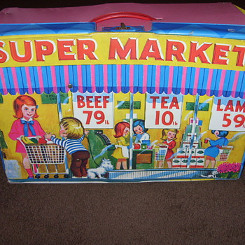 kids supermarket suitcase