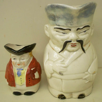 Two Character  or Toby Jug / Pitcher - Art Pottery