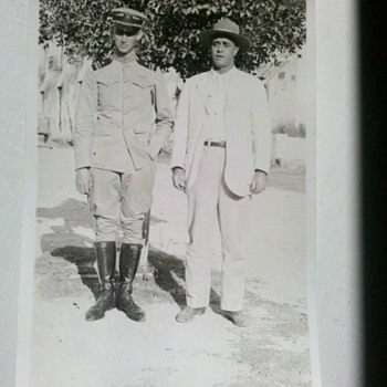 WWI Naval Aviator snap shot 2&quot; X 3&quot; RARE!