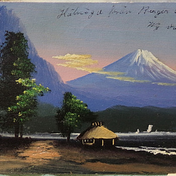 HAND-PAINTED 1910 Postcard and Japanese Cards