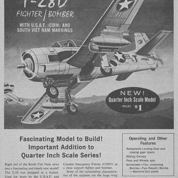 1965 - Monogram Model Airplane Kit Advertisement