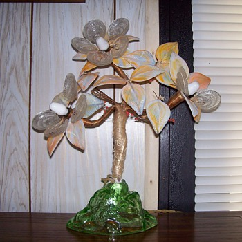 old glass tree lamp - Lamps