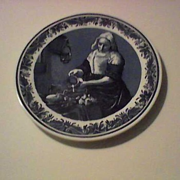 THE BLUE MILK MAID - China and Dinnerware