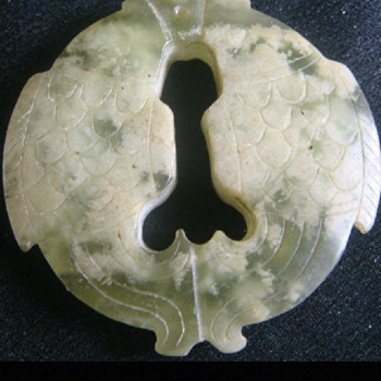 Jade Pendents - Carved Fish eternal good luck   - Asian