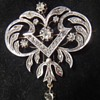 Edwardian white gold or silver diamond brooch