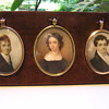 A Trio of Miniature Paintings on Ivory