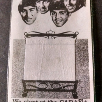 Beatles bed sheets-1965 - Music