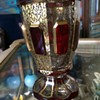 Beautiful ruby red and gold vase