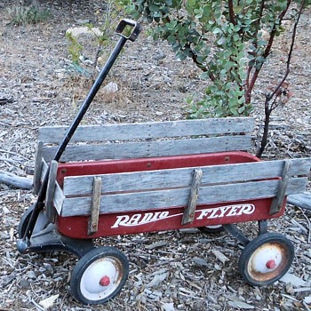 Vintage Radio Flyer With Wood Sides - Toys