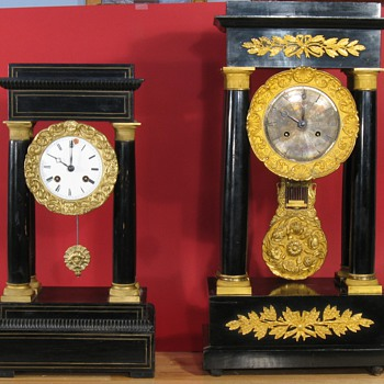 Pair of French Empire Clocks - Clocks