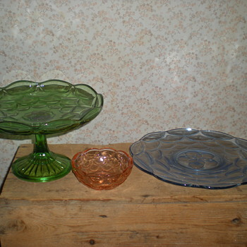 Bulgarian Art Deco Fruit Bowl, tray and bowl.