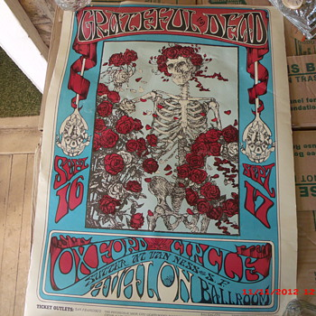 My Grateful Dead at Avalon Ballroom Poster (RP 006) Kelley/Mouse - Music