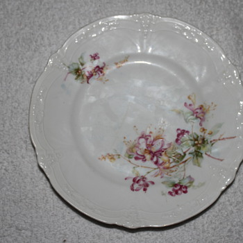 Fine porcelain hand painted 8 inch plate signed with a Mathematical Formula - China and Dinnerware