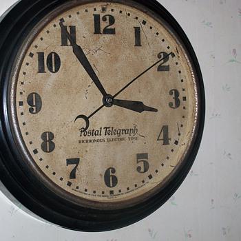Vintage Postal Telegraph Clock - Clocks