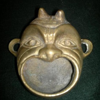Asian  Brass Ashtray? - Asian