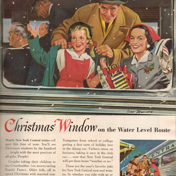 1953 - New York Central Railroad Advertisements