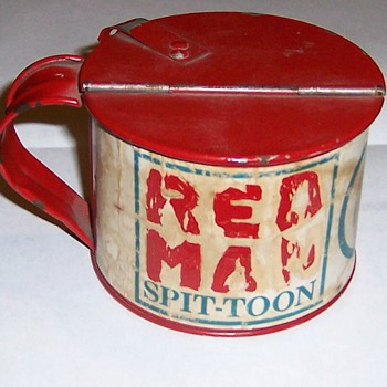 Red Man Spit-toon Cup - Tobacciana