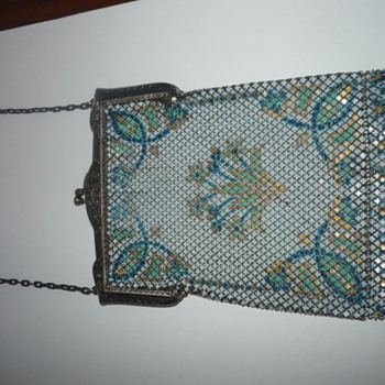 Vintage Enameled Mesh Purses - Art Deco