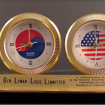 Joint Chiefs of Staff General Lyman Lemnitzer Clock