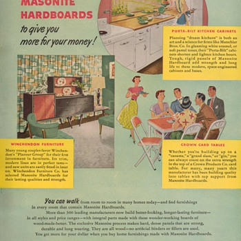 1950 Masonite Advertisement - Advertising