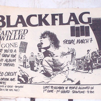 Black Flag  Hand Bill - Music
