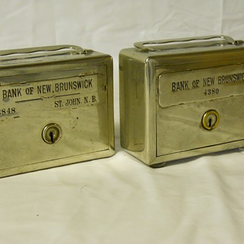 "Promotional Advertising Steel Bank""The Bank Of New Brunswick, Saint-John,NB""Circa before 1913 - Coin Operated"