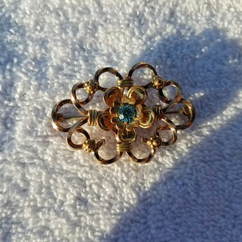 Vintage Pretty and Delicate Louis Stern Pin/Brooch - Costume Jewelry
