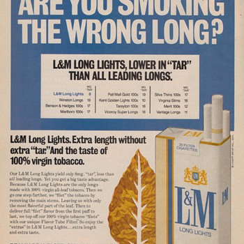 1978 - L&M Cigarettes Advertisement - Advertising