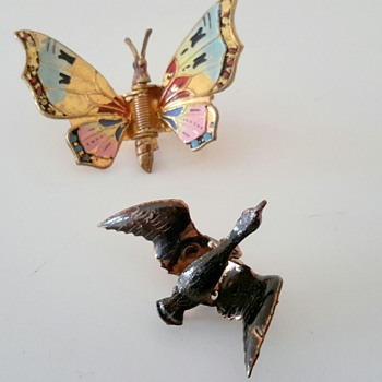 Vintage Butterfly & a Little Black Duck