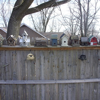the bird houses