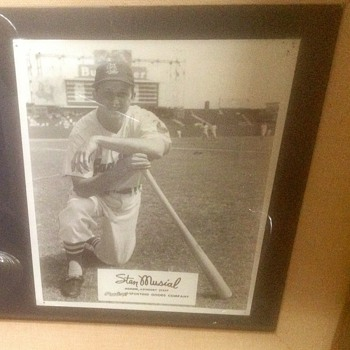 Rawlings Sporting Goods Promotion Photo Of Stan Musial  - Baseball