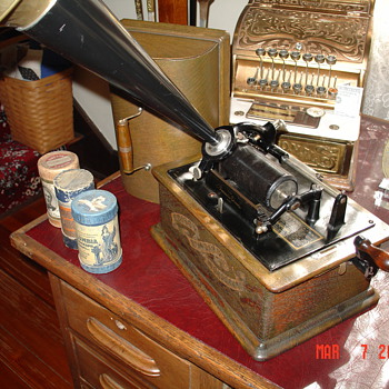 A True Antique...Edison Standard Phonograph...1800&#039;s...By Thomas A. Edison