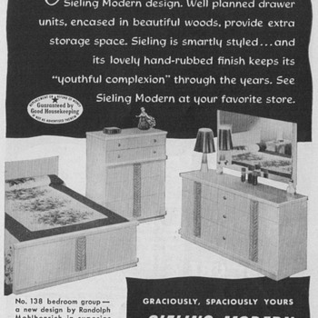1950 Sieling Furniture Advertisement - Advertising