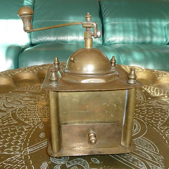 Brass Coffee Grinder - Kitchen