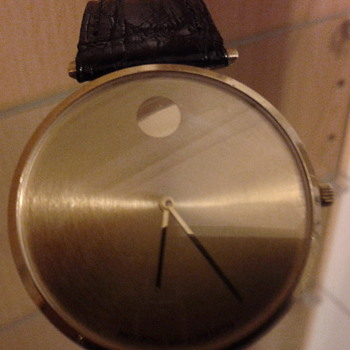 MOVADO ZENITH SOLID GOLD MECHANICAL MUSEUM WATCH