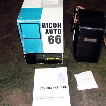 1961-1964, ricoh auto 66-twin lens reflex cameras.