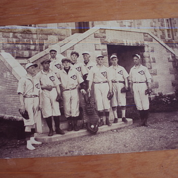 Early cSc baseball team postcard