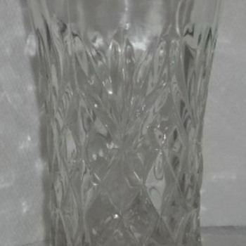 Cut Glass Pitcher and Glasses - Glassware