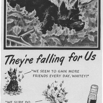 1953 Black & White Scotch Advertisement