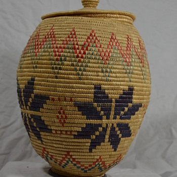 Alaskan Native Basket with Snowflakes