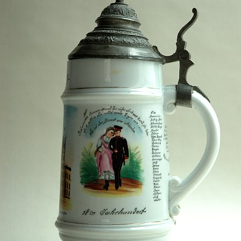 antique german military  beer stein - Military and Wartime