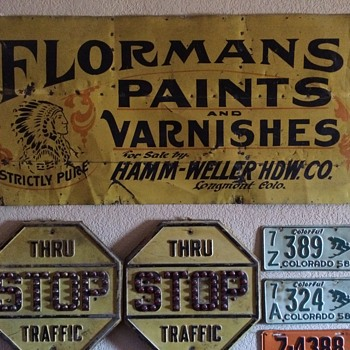Very cool 19th century paint & varnish sign - Signs