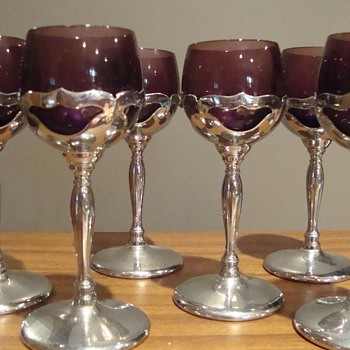 vintage purple wine goblets??? - Glassware
