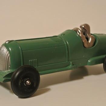 Die Cast Hubley Kiddie Toy Open Racer w/Nickel Plated Driver - Model Cars