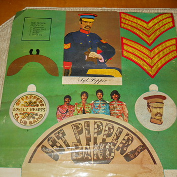 Beatles Sgt. Pepper cut outs